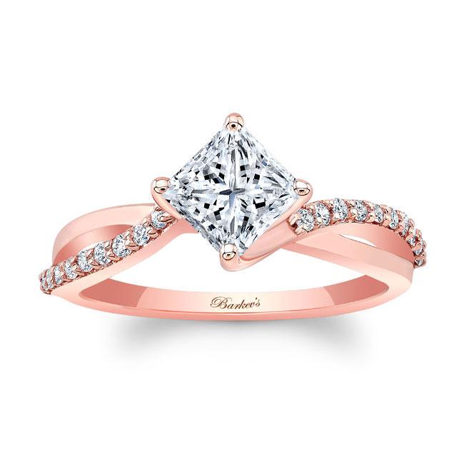 Princess Cut Moissanite Twist Engagement Ring