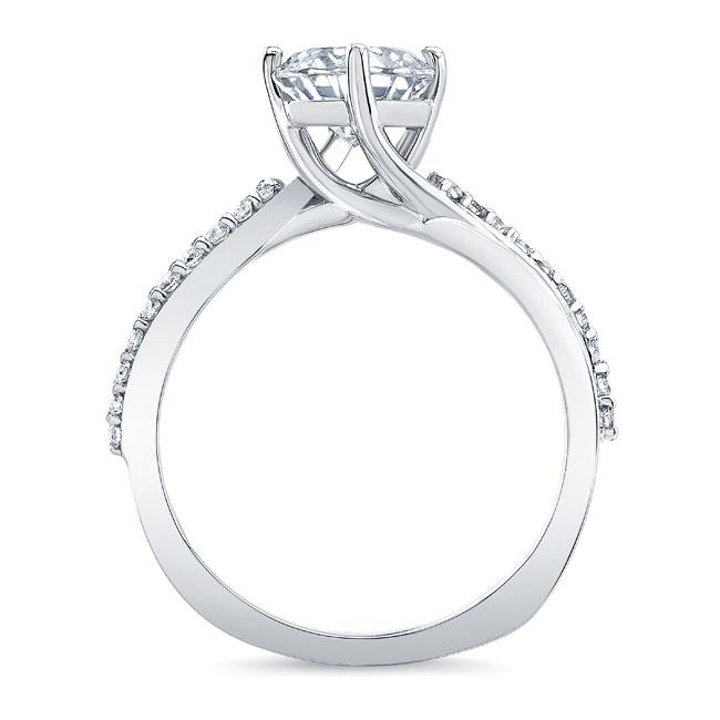 Princess Cut Twist Engagement Ring Image 2