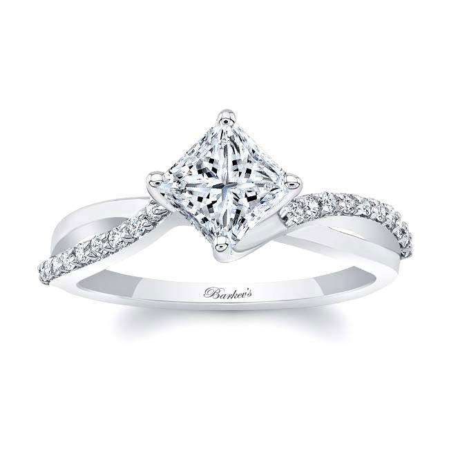 Princess Cut Twist Engagement Ring