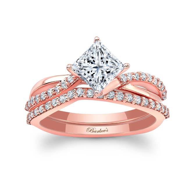 Princess Cut Twist Bridal Set