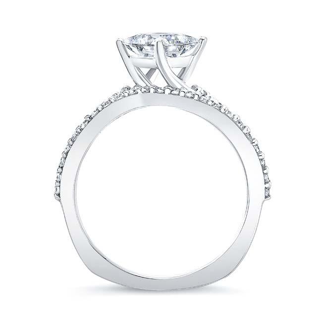 Princess Cut Moissanite Twist Bridal Set Image 2