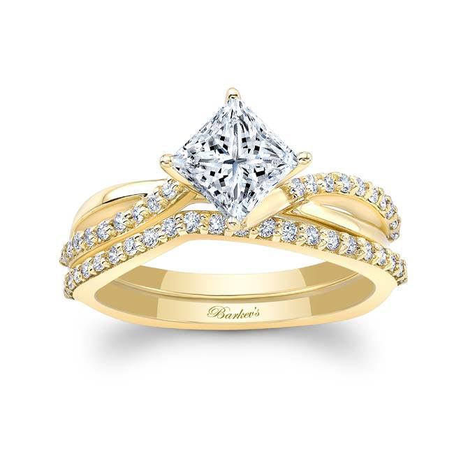 Princess Cut Twist Bridal Set Image 1
