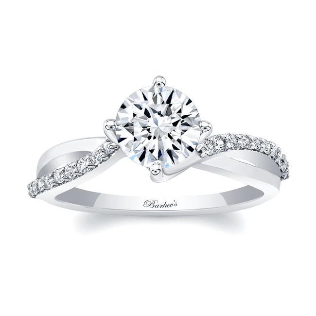 Moissanite Twist Engagement Ring
