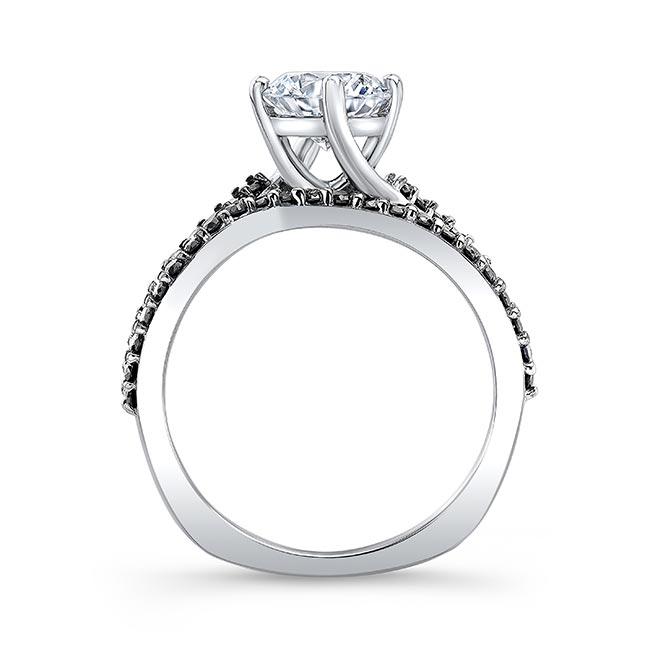Black Diamond Moissanite Twist Bridal Set Image 2