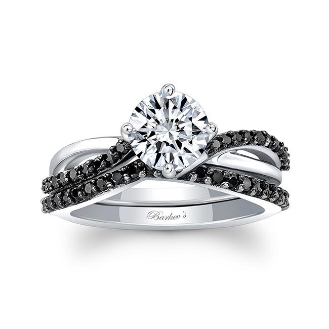 Black Diamond Twist Bridal Set