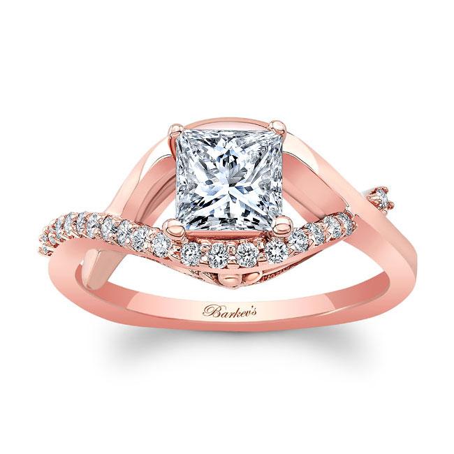 Princess Cut Moissanite Engagement Ring MOI-8078L