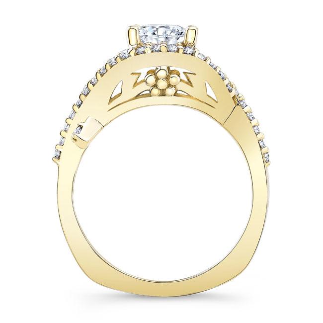 Moissanite Engagement Ring MOI-8080L Image 2