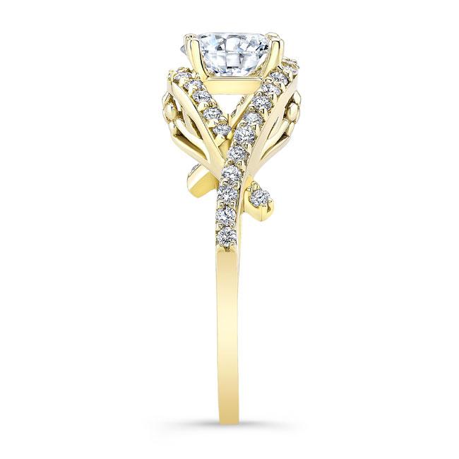 Moissanite Engagement Ring MOI-8080L Image 3