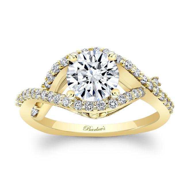 Moissanite Engagement Ring MOI-8080L Image 1