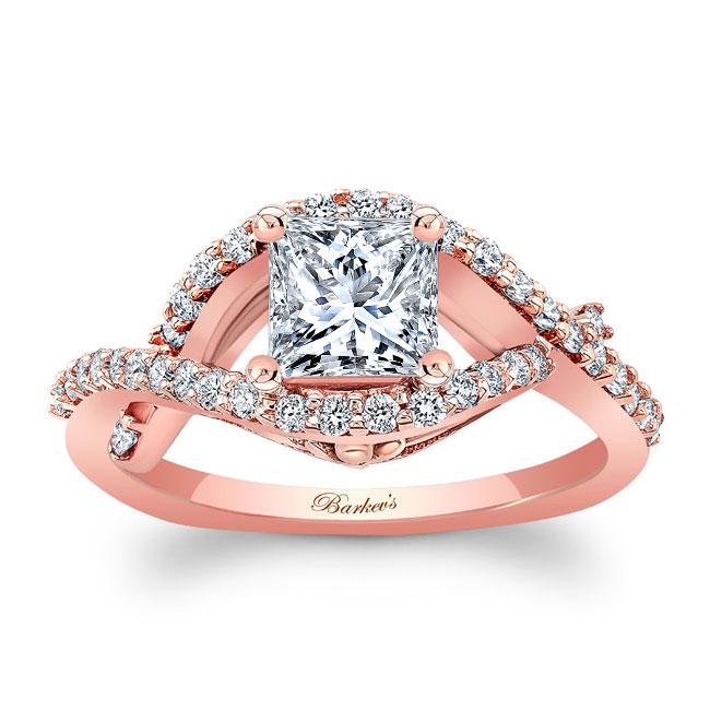 Princess Cut Moissanite Engagement Ring MOI-8081L