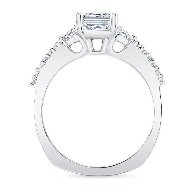 Moissanite 3 Stone Princess Cut Engagement Ring Image 2