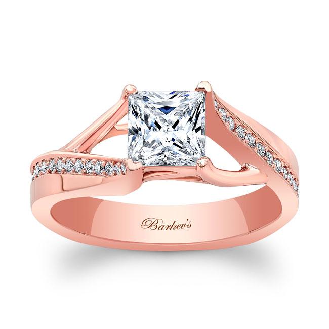 Princess Cut Moissanite Engagement Ring MOI-8091L