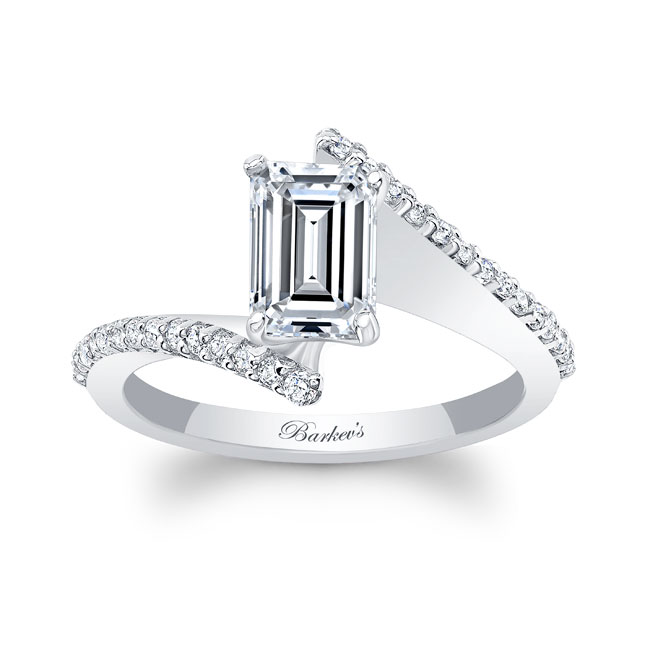 Emerald Cut Diamond Engagement Ring 8128L