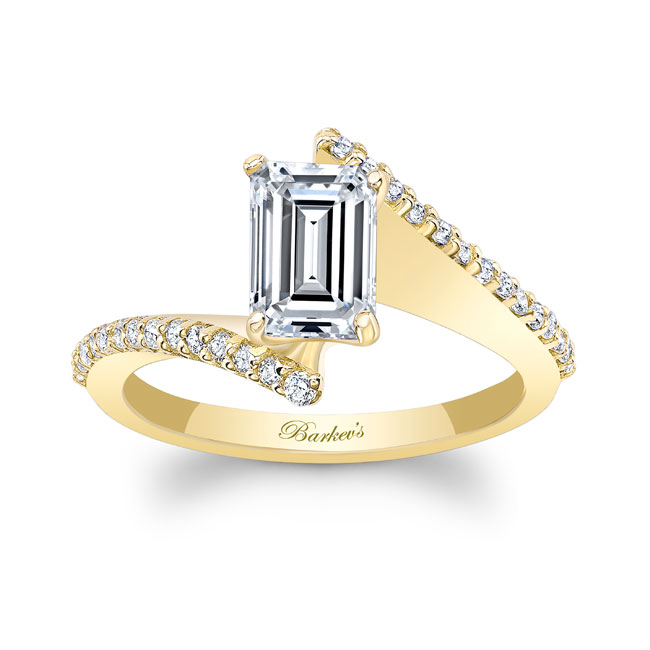 Emerald Cut Diamond Engagement Ring 8128L Image 1