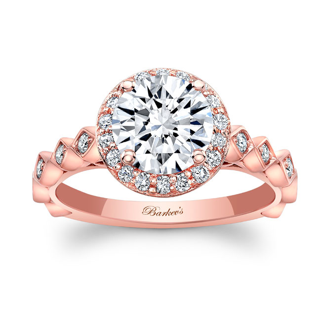 Vintage Halo Moissanite Engagement Ring