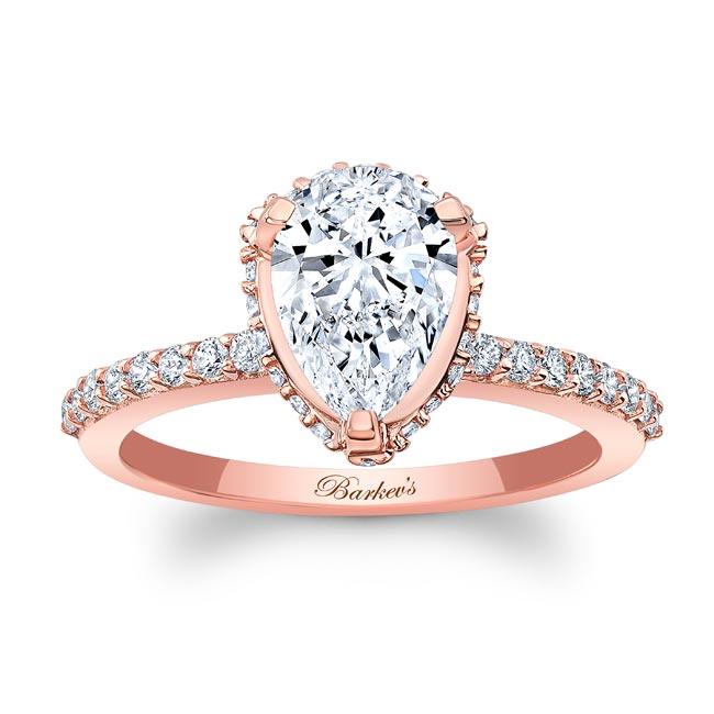 Pear Shape Moissanite Ring MOI-8160L