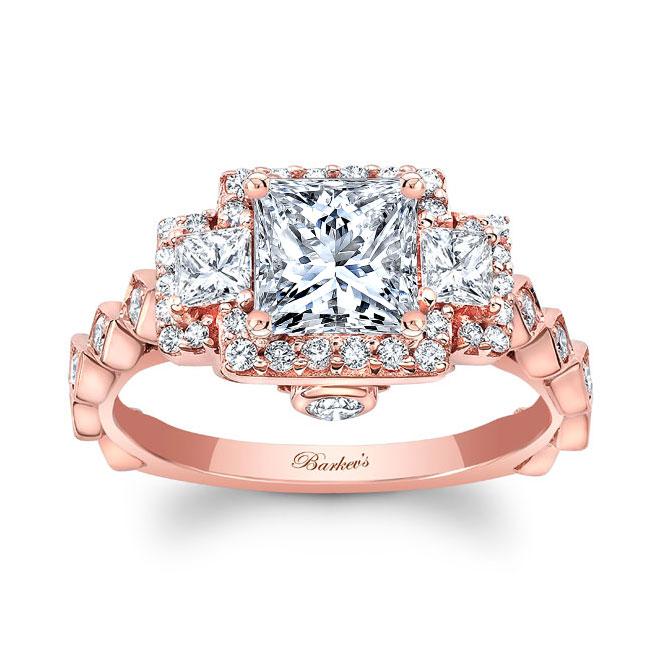 Vintage Three Stone Engagement Ring 8161L