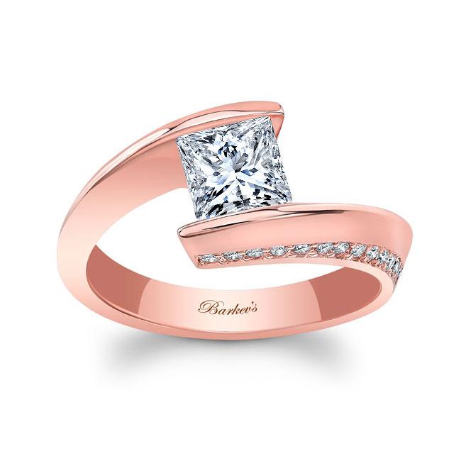 Moissanite Bypass Diamond Ring