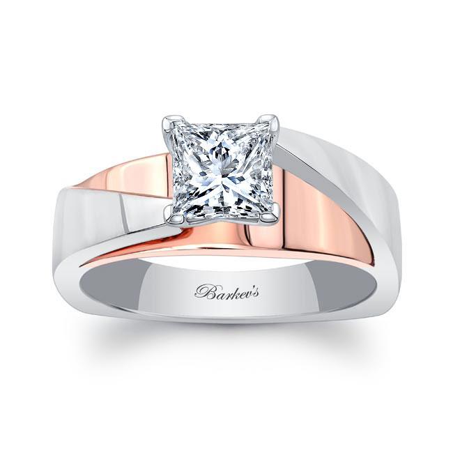 Princess Cut Moissanite Solitaire Engagement Ring MOI-8165L
