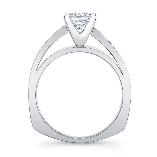 Princess Cut Pave Engagement Ring Image 2