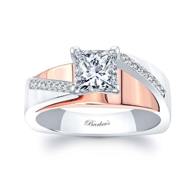 Princess Cut Pave Engagement Ring