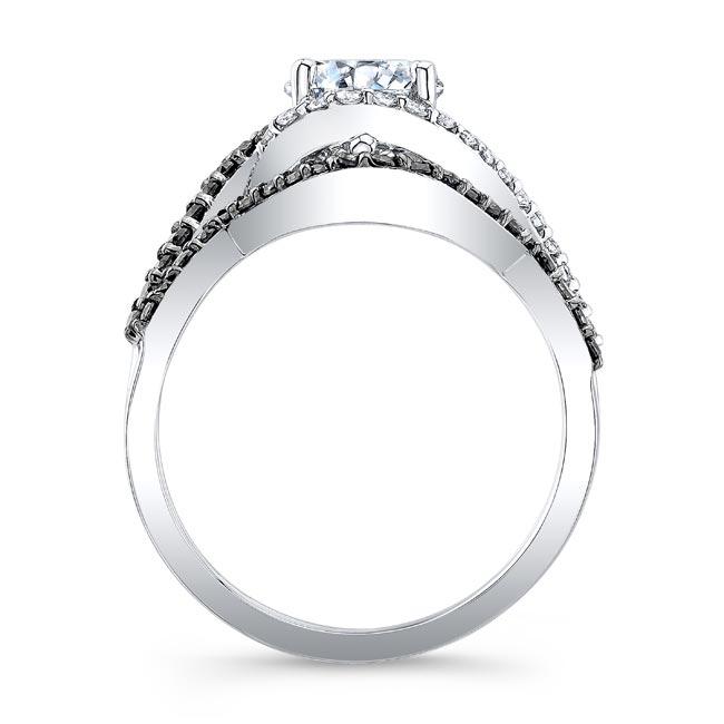 Twisted Halo Black Diamond Wedding Set Image 2