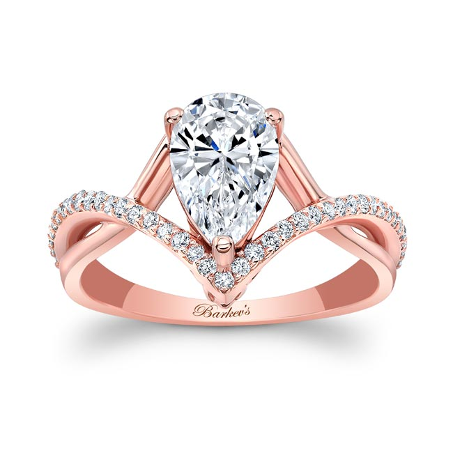 Unique Pear Shaped Moissanite Ring