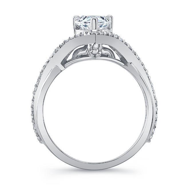 Unique Pear Shaped Engagement Ring Image 2