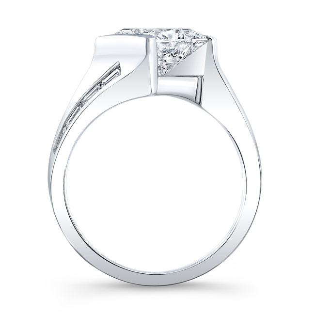 Princess Cut Moissanite Engagement Ring MOI-8169L Image 2