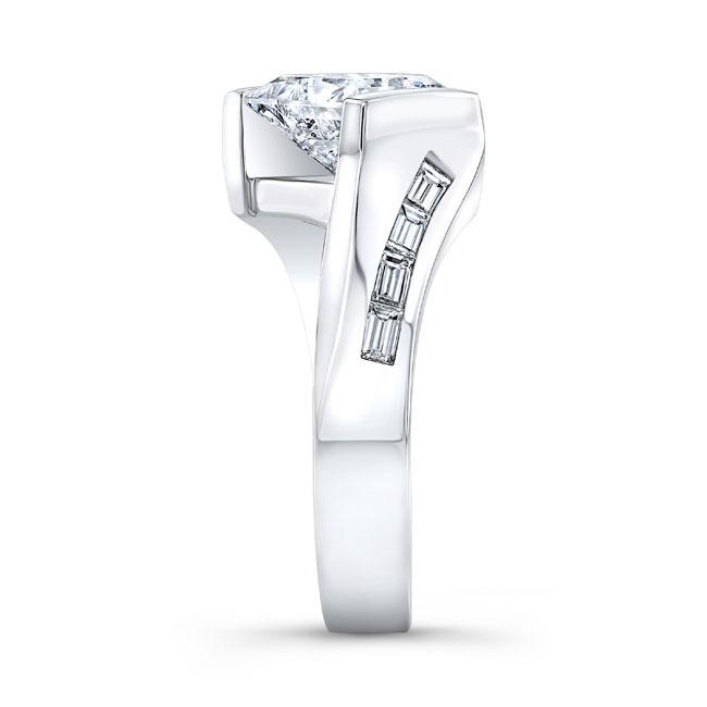 Princess Cut Moissanite Engagement Ring MOI-8169L Image 3