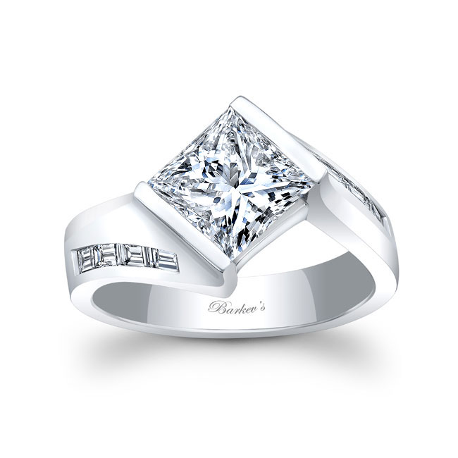 Wide Band Engagement Ring 8169L