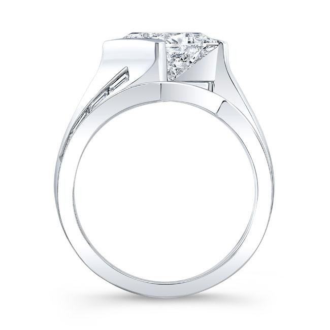 Princess Cut Moissanite Bridal Set MOI-8169S Image 2