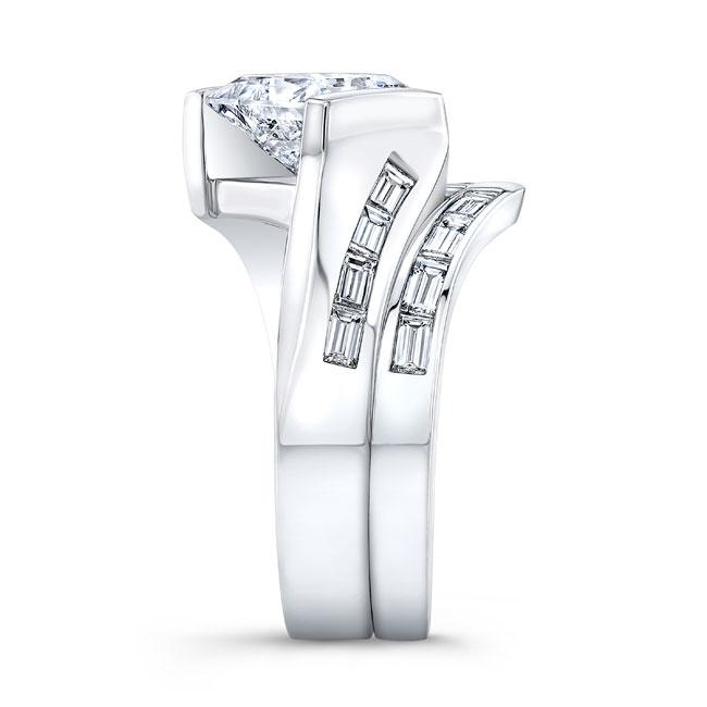 Princess Cut Moissanite Bridal Set MOI-8169S Image 3