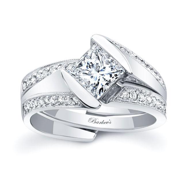 Princess Cut Diamond Bridal Set 8181S