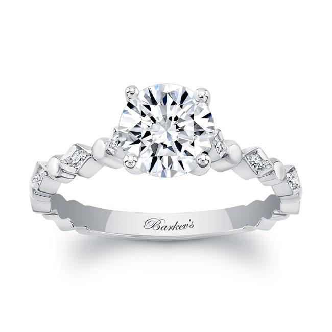 Art Deco Moissanite Engagement Ring