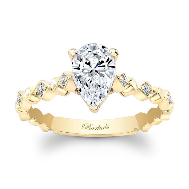 Art Deco Pear Shaped Diamond Ring Image 1