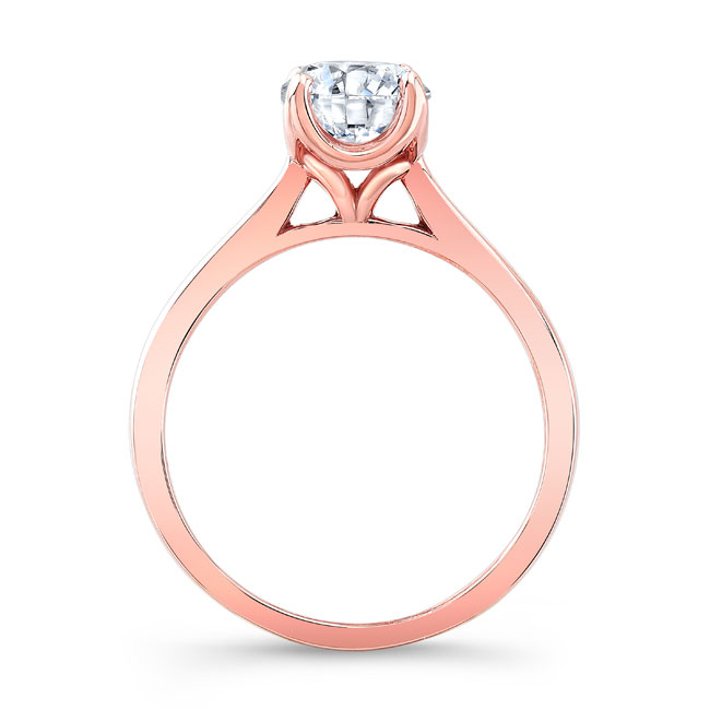 Moissanite Solitaire Engagement Ring MOI-8191L Image 2