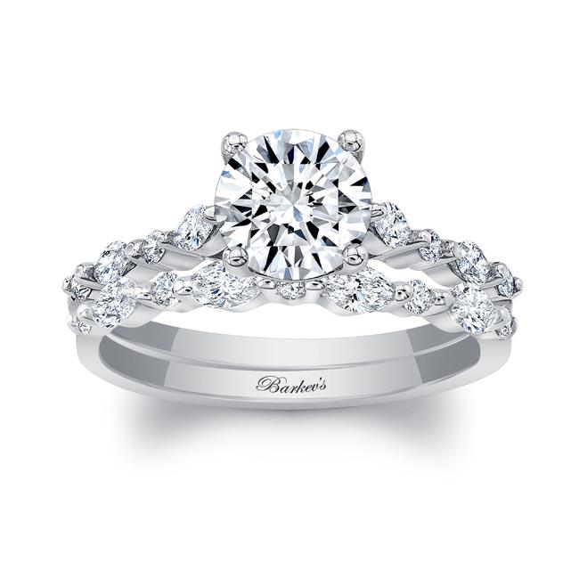 Marquise Engagement Ring Set