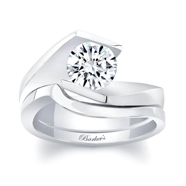 Solitaire Moissanite Bridal Set MOI-8193S