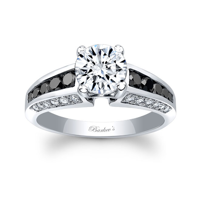 Channel Set Black Diamond Ring