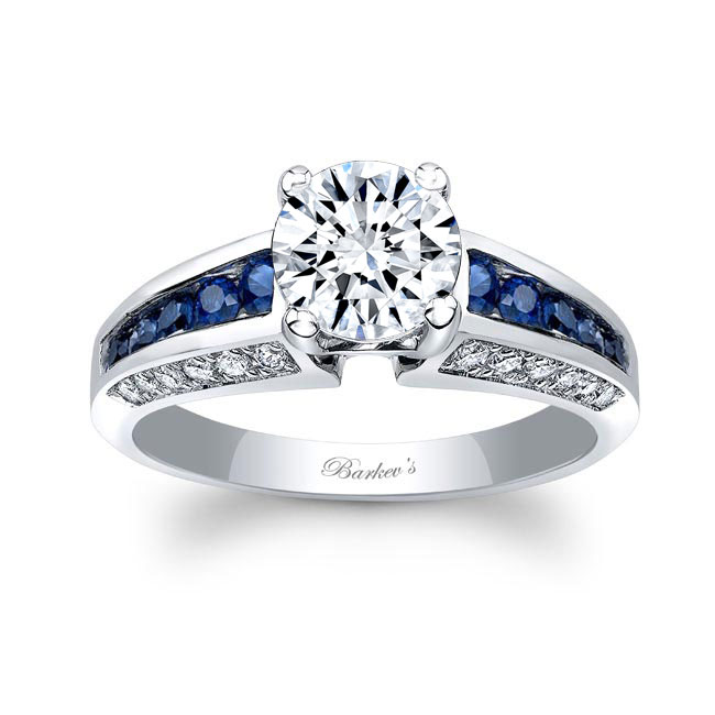 Blue Sapphire Channel Set Ring Image 1