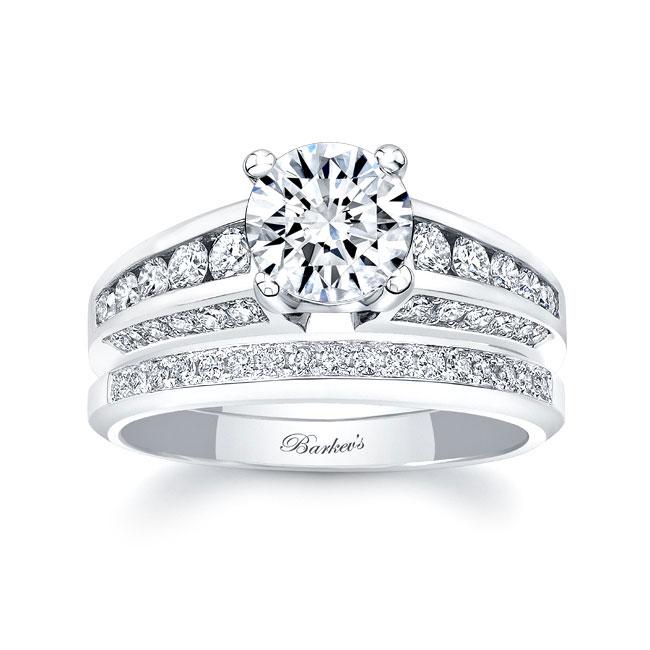 Channel Wedding Ring Set