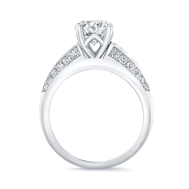 Channel Blue Sapphire Wedding Ring Set Image 2