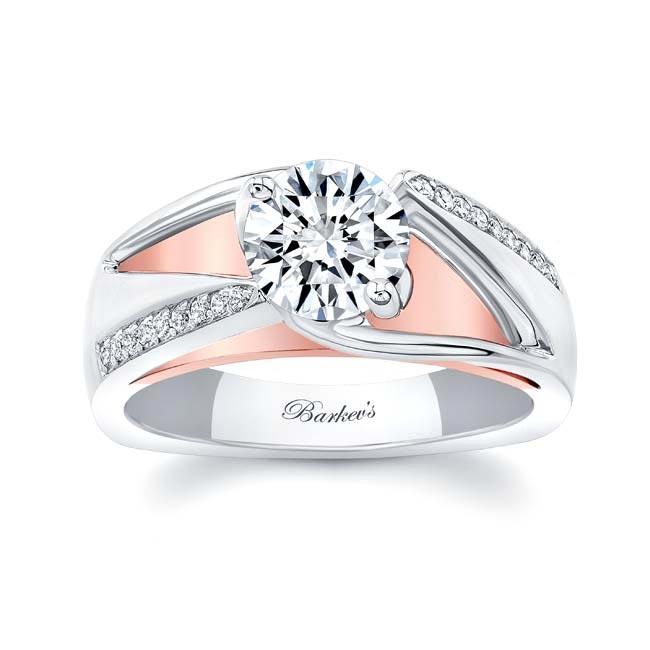 Moissanite Pave Diamond Ring