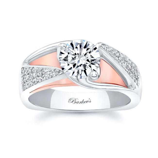 3 Row Diamond Moissanite Ring