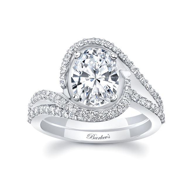 2 Carat Oval Wedding Ring Set