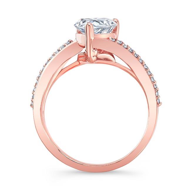 Split Shank Pear Moissanite Ring Image 2