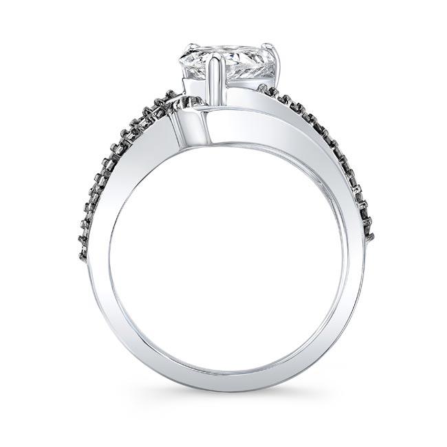Black Diamond Split Shank Pear Bridal Set Image 2