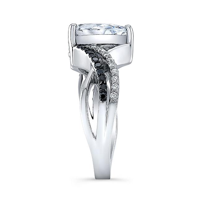 Black Diamond Teardrop Ring Image 3