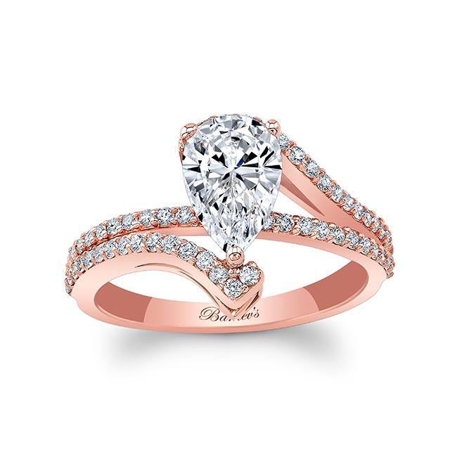 Split Shank Pear Moissanite Ring Image 1